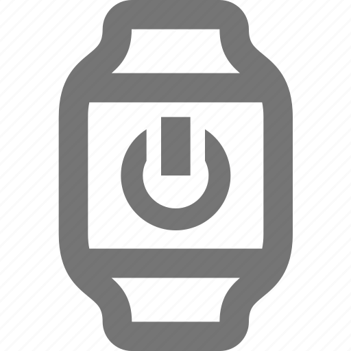 power, smart watch, watch icon