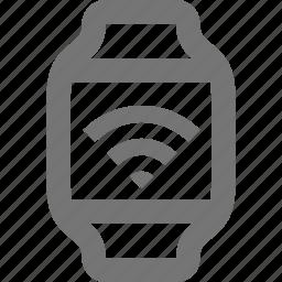 signal, smart watch, watch, wireless icon