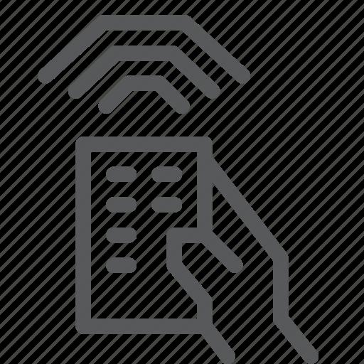 controller, device, hand, network, remote, signal, wifi, wireless icon