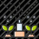 sprinkler, watering, gardening, water, plant