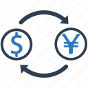 currency exchange, dollar, exchange, money, money exchange icon