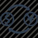 currency exchange, dollar, exchange, money, money exchange icon