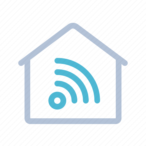 home, house, smart home, technology, wifi, wireless icon