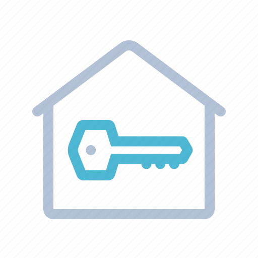 entry, home, house, key, security, smart home, technology icon