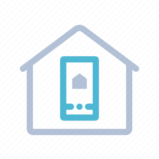 application, home, house, smart home, smart phone, technology icon