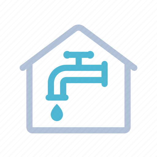 home, house, smart home, tap, technology, water icon