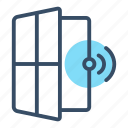 access, alarm, protection, security, sensor, window, window sensor icon