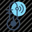 control, monitoring, sensor, temperature, thermo, thermometer, thermostat icon