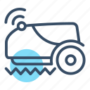 automatic, control, intelligent, lawn mower, mower, reaper, smart mower icon