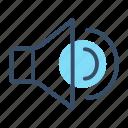 movie, multimedia, music, play, sound, stream, volume icon