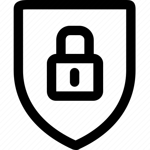 padlock, protect, protection, safety, security, shield icon