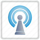 antenna, connect, fi, internet, signal, wi icon