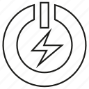 electricity, energy, power, reset, start icon