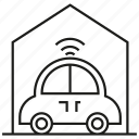 garage, home, house, smart car, vehicle icon