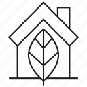 eco, home, house, leaf, nature icon