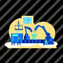automatization, factory, manufacture, machinery, conveyor
