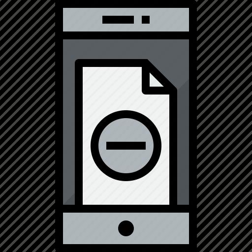 communication, device, doc, phone, remove, smartphone, talk icon