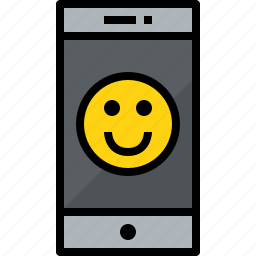 cellphone, communication, device, emotion, phone, smartphone, talk icon