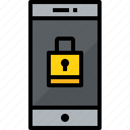 cellphone, communication, device, lock, phone, smartphone, talk icon