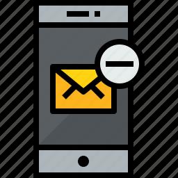 communication, device, mail, phone, remove, smartphone, talk icon