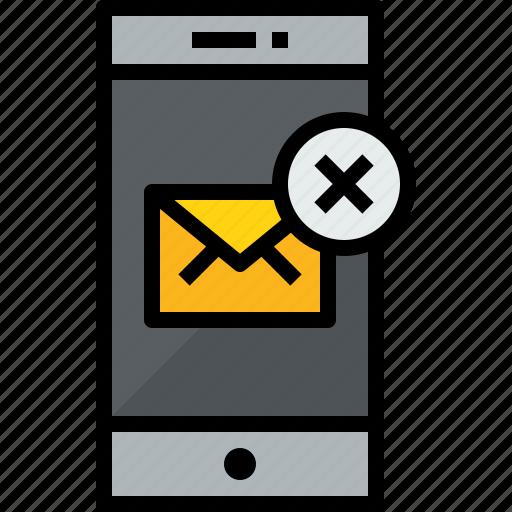 communication, device, mail, phone, smartphone, talk, x icon