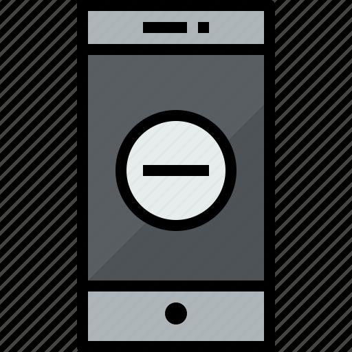 cellphone, communication, device, phone, remove, smartphone, talk icon