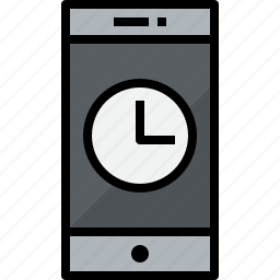 cellphone, communication, device, phone, smartphone, talk, time icon