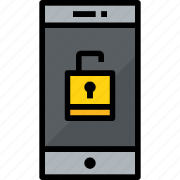 cellphone, communication, device, phone, smartphone, talk, unlock icon