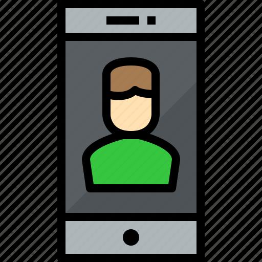 cellphone, communication, device, phone, smartphone, talk, user icon
