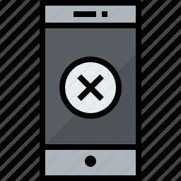 cellphone, communication, device, phone, smartphone, talk, x icon