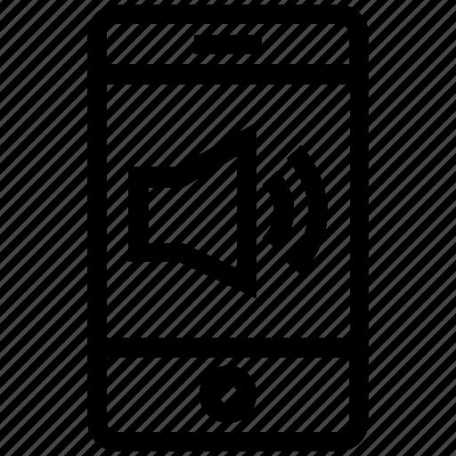 cell phone, device, full volume, mobile, ringtone, smart phone, speaker icon
