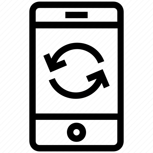 cell phone, device, mobile, refresh, reload, smart phone, sync icon