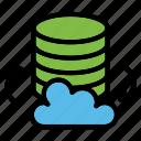 cloud, storage, database, data, server