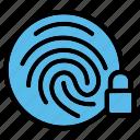 fingerprint, biometric, identification, lock, scan, security