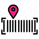 tracking, code, barcode, location, pin, service