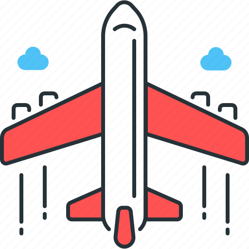 aeroplane, air, airplane, flight, plane, transport, transportation icon