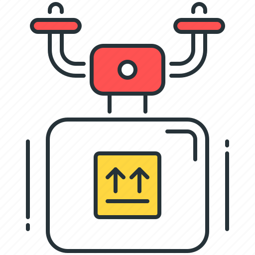 delivery, drone, logistics, package, parcel, shipping icon