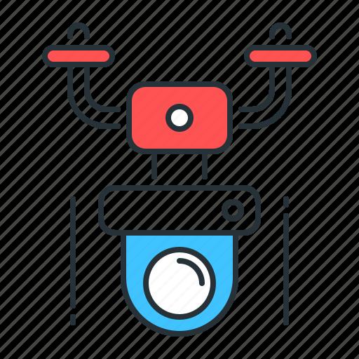 cctv, drone, monitoring, nanocopter, quadcopter, security, surveillance icon