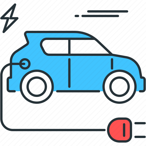 automobile, car, charge, electric, electricity, power, vehicle icon