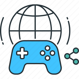controller, game, gameplay, network, online, share, sharing icon