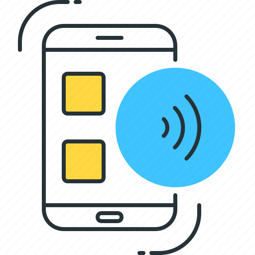 beam, direct, nfc, smartphone, technology, transfer, wifi icon