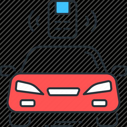 automobile, car, control, remote, vehicle icon
