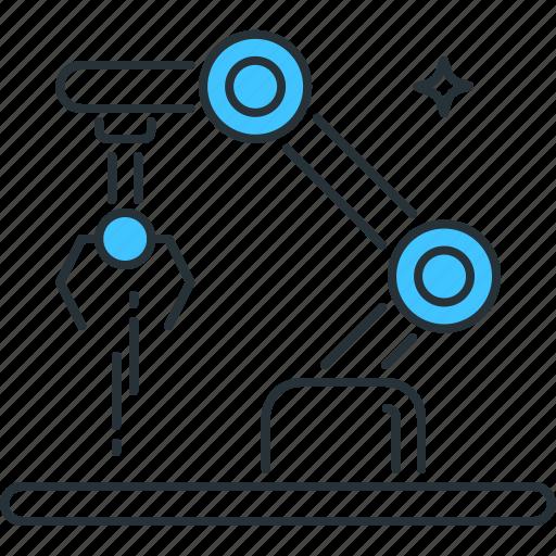 arm, automation, machine, manufacturing, production, robotic, robotics icon