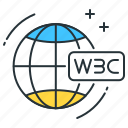 internet, online, semantic, w3c, web, world wide web, www icon