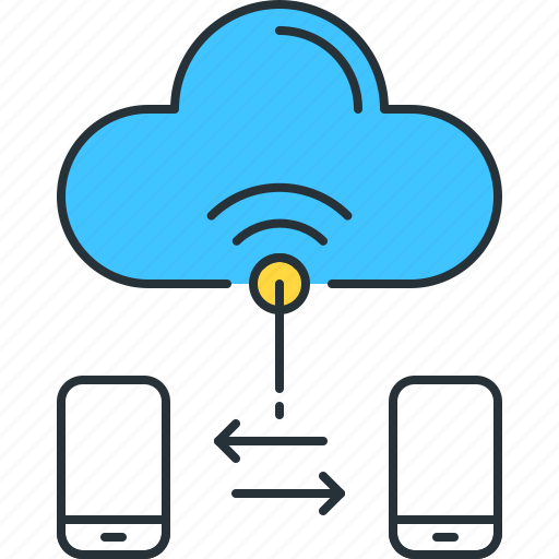 access, cloud, connect, online, smart, transfer, wifi icon