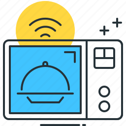 appliance, cook, defroze, heat, internet of things, microwave, smart icon