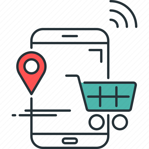 cart, checkout, ecommerce, retail, shopping, smart, store icon