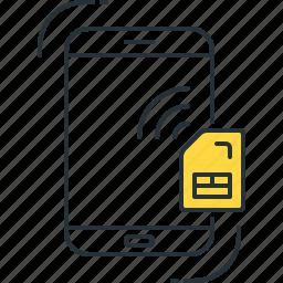 call, card, communication, mobile, sim, smart, smartphone icon