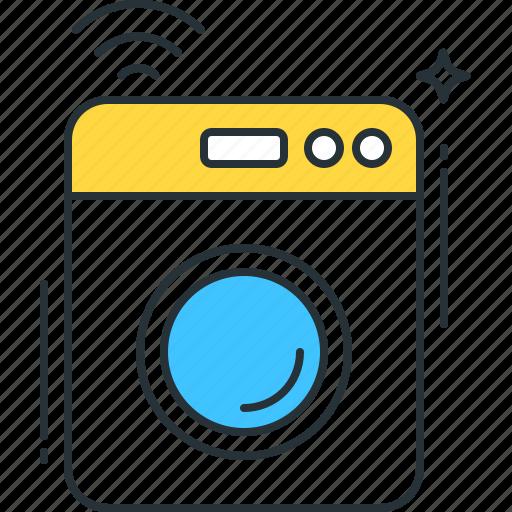 clothes, dryer, machine, smart, technology, washer, washing icon