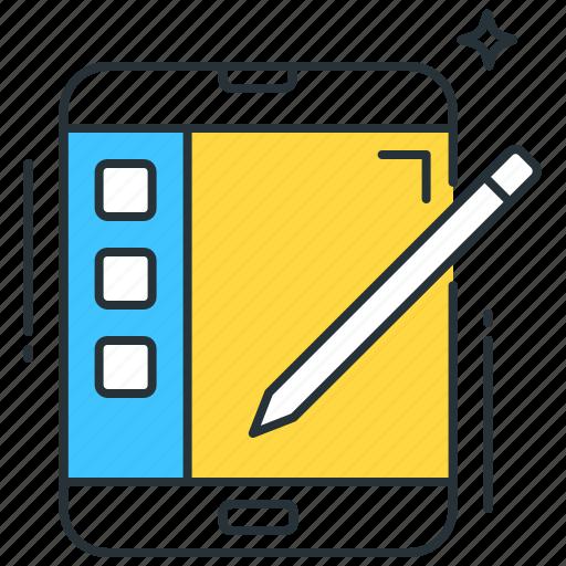 app, application, draw, sketch, smart, stylus, tablet icon